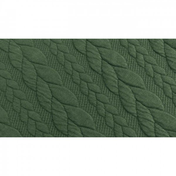 Cable: Sweat-Stoff mit Jaquard-Zopfmuster - col. 0028 olive