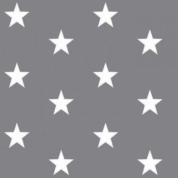 Baumwolle Design Stars - col. 013 grau