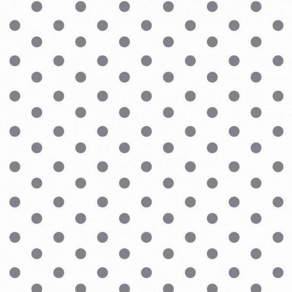 Baumwolle Design Dots - col. 113 weiß/grau